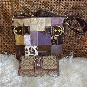 Coach bag and wallet bundle.